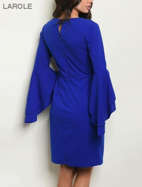 dazzling royal blue midi cocktail dress, Beautiful Blue Cocktail Dresses at the Best Prices | Cocktail dress with long sleeves | Larole