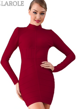 Load image into Gallery viewer, Red Long Sleeve Mini Club Dress Vestidos Celebrity Evening Party Dresses-  More Colors Available