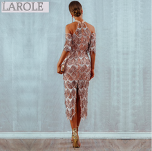 Load image into Gallery viewer, Elegant Sequins Evening Midi Party Dress - More Colors Available