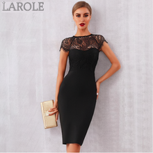 Load image into Gallery viewer, Elegant Midi Bodycon Little Black Dress  - Available in Black & White
