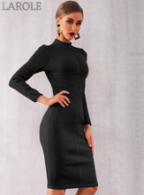 Load image into Gallery viewer, Sexy Nude Long Sleeve Midi Evening Party Dresses- More Colors are Available