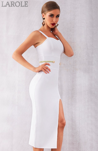 Black Sexy Spaghetti Strap Deep V Summer Bandage Dress - More Color Option Available!