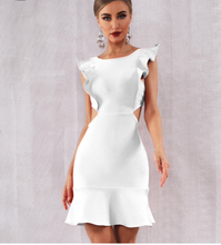 Load image into Gallery viewer, Sexy White Ruffles Mini Club Party Dress - More Colors Are Available