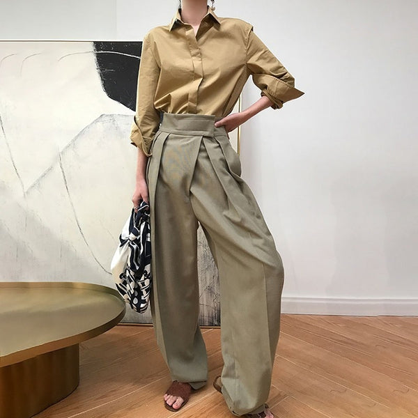 High Waist Causal Loose  Women Pants