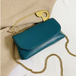 Elegant PU Leather Pin Chic Style Handbags