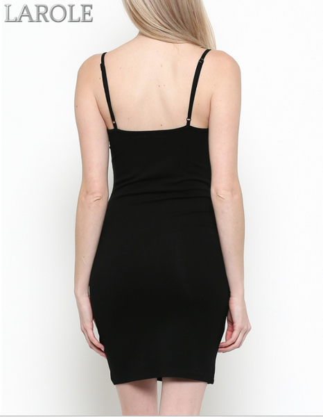 Kylie ~ Black Cami Dress w/ Adjustable Straps