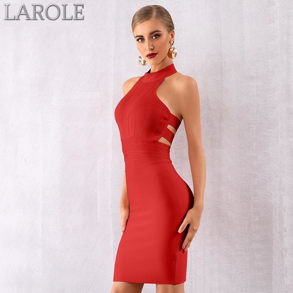 Red Elegant Sexy Hollow Out Backless Celebrity Party Dress