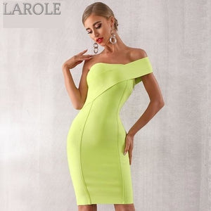 One Shoulder Bodycon Evening Party  Green Dress