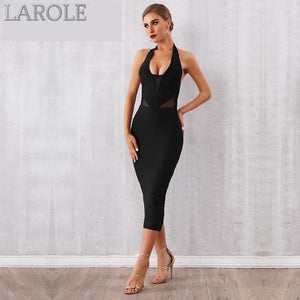 Halter Backless Deep V Bodycon Hot Cocktail Dress