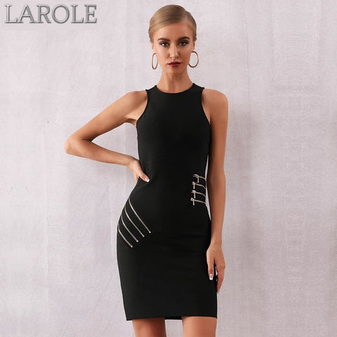 Sleeveless Black Evening Party Dresses