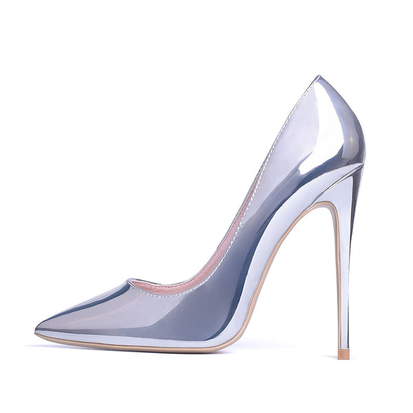 Silver  Fashion Luxury Party Stilettos