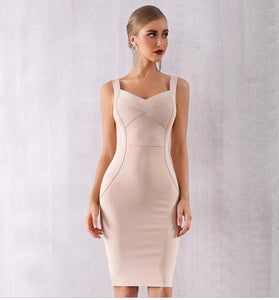 Sky Blue Sweetheart Cocktail Bandage Midi Dress - Available more colors