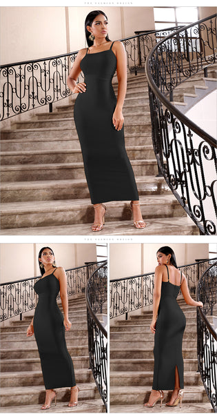 Spaghetti Strap Sleeveless Maxi Club Celebrity Evening Party Dresses