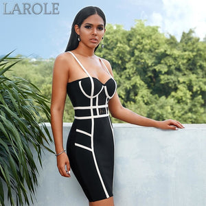 Black Sexy Spaghetti Strap Sleeveless  Evening Party Dress