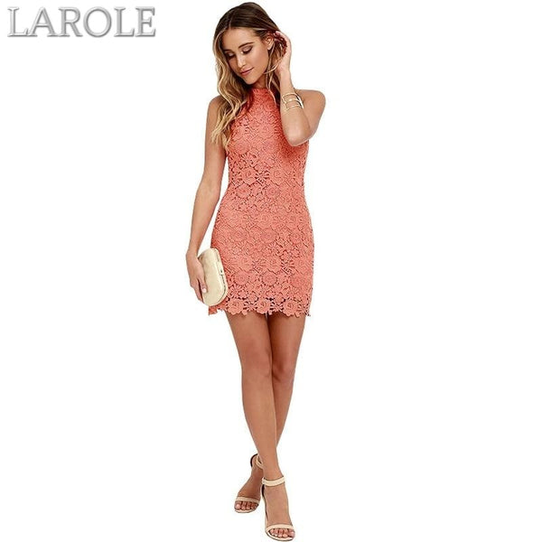 Berydress Short Lace  Elegant Party With Halter,  Neck Sleeveless - More Colors Are Available