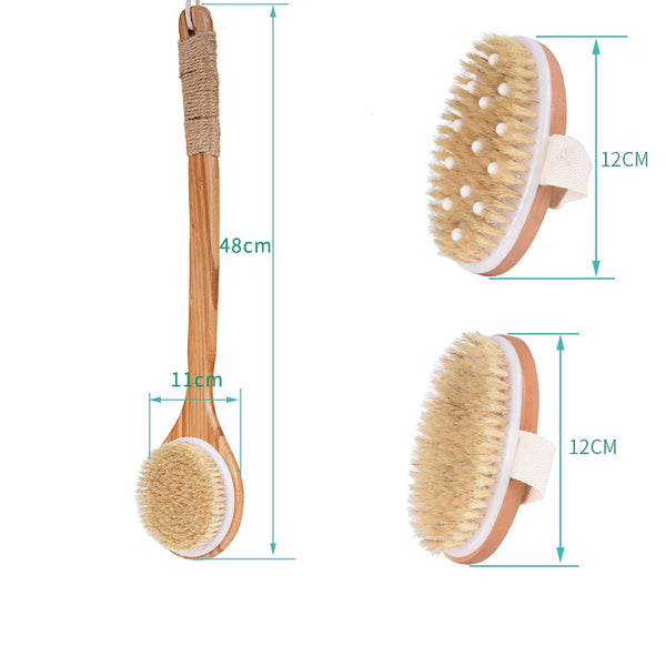 Natural Dutch Wooden Exfoliating Bristle Bath & Shower Brush