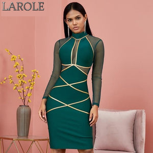 Long Sleeve Hollow Out Evening Dress - Available In More Colors