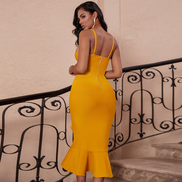 Mermaid Sleeveless Midi Bandage Bodycon Dresses - More Colors