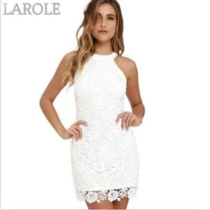 Berydress Short Lace  Elegant Party With Halter Neck,  Sleeveless Navy Blue Dress - More Colors Are Available
