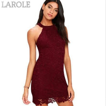 Load image into Gallery viewer, Berydress Short Lace  Elegant Party With Halter Neck,  Sleeveless Coral Dress - More Colors Are Available