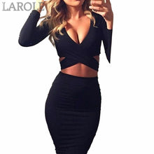 Load image into Gallery viewer, Long Sleeve Elastic Cotton Warm Party Bodycon Dresses- More color option