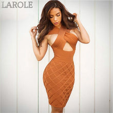 Load image into Gallery viewer, Party Sleeveless Sexy Hollow Night Out Orange Dress