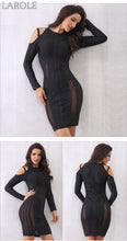 Load image into Gallery viewer, Off the Shoulder Mesh Celebrity Mini  Evening Party Dresses- Available in Black and white