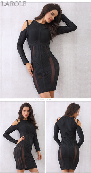 Off the Shoulder Mesh Celebrity Mini  Evening Party Dresses- Available in Black and white