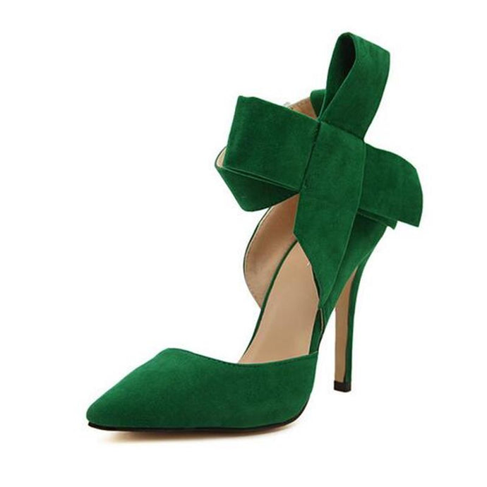 Women Big Bow Tie  Butterfly Pointed Stiletto Shoes - More Colors available