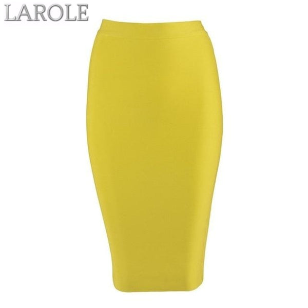 Knee-length  Nude Bodycon Pencil Skirt  - Available in More Colors