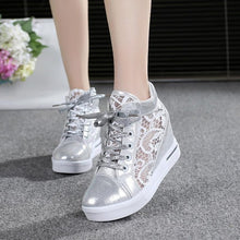 Load image into Gallery viewer, Woman Breathable Mesh Sneakers Flats Lace Loafers with Thick Heels Platform Wedges -Casual Comfort Creepers