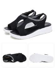 Load image into Gallery viewer, Woman Summer Wedge Comfortable  Slip-on Flat Sandals