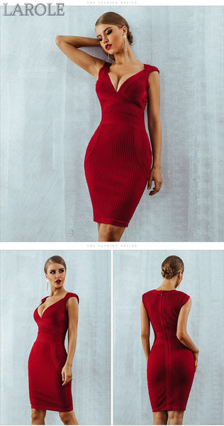 Red  Evening Party  Bodycon Bandage Dresses