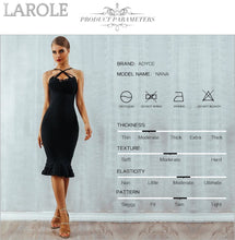 Load image into Gallery viewer, Elegant Mermaid V-Neck Midi Little Black Dress
