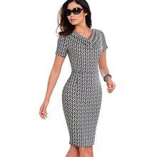 Load image into Gallery viewer, Nice-forever Vintage Sheath  Office Ruffle Midi Dress - More Colors Are Available