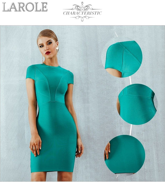 Sexy Short Sleeve Green Bodycon Cocktail Dress