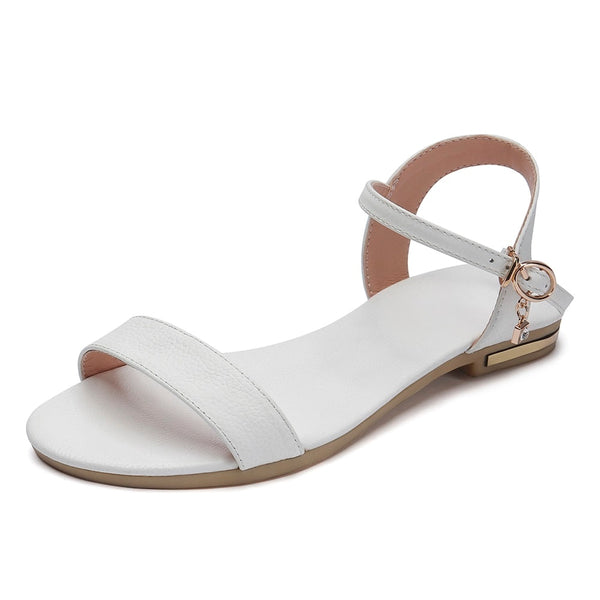New genuine leather flat sandals