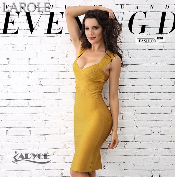 Sexy Sleeveless V Neck Night Out Runway Celebrity Evening Cocktail Dress- Available in Multiple colors