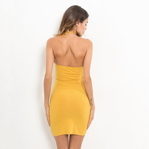 Backless Spaghetti Strap Summer Mini Dresses - Available in more colors