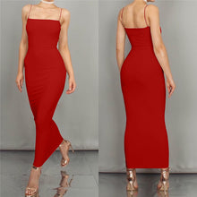Load image into Gallery viewer, Spaghetti Strap Summer  Stretchy Maxi  Dress - More Colors Are Available