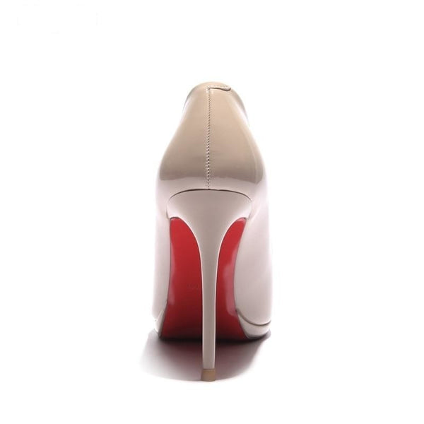 Pointed toe red bottom elegant thin high heels