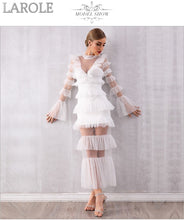 Load image into Gallery viewer, White  Sexy Long Sleeve Evening Party Dress