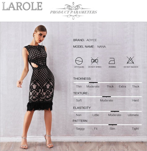 Elegant Black Sleeveless Cut Out Lace Dress