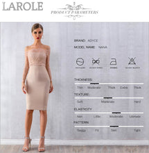 Load image into Gallery viewer, Sexy Long Sleeve Off Shoulder Lace Bandage Dress
