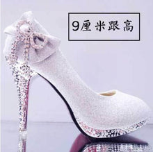 Load image into Gallery viewer, Shiny crystal wedding shoes - More colors are available