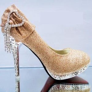 Shiny crystal wedding shoes - More colors are available