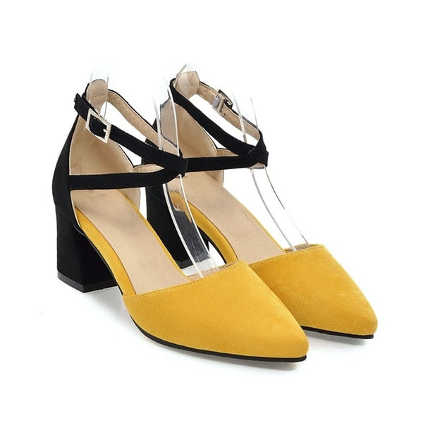 Pointed toe summer heels yellow sandals- Available in more colors