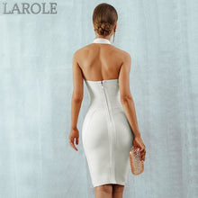 Load image into Gallery viewer, Sexy Halter Backless Sleeveless Bodycon Club Celebrity Evening Party Midi  Dresses - Available in Multiple colors