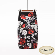 Load image into Gallery viewer, High Waist Vintage Floral Print Midi Pencil Skirt - More Colors Are Available