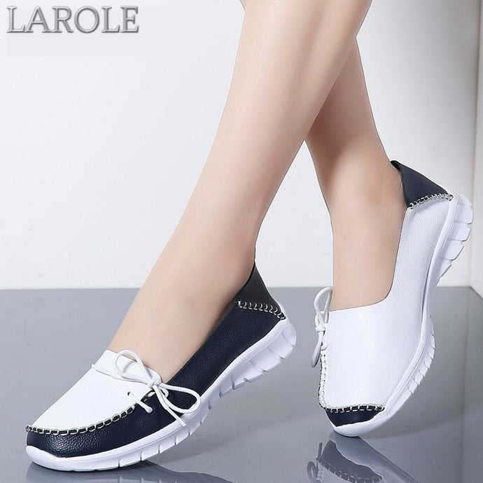 Genuine Leather Slip On Flats Shoes